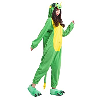 Amazon.com: PALMFOX Womens Dragon Plush Animal Adult Onesie Pajamas Cosplay Costumes: Clothing