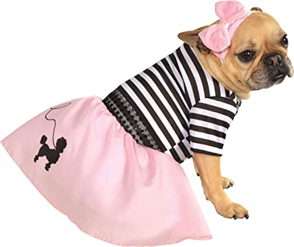 e5fa029a30ff Amazon.com : Rubie's 50s Girl Pet Costume, Medium : Pet Supplies