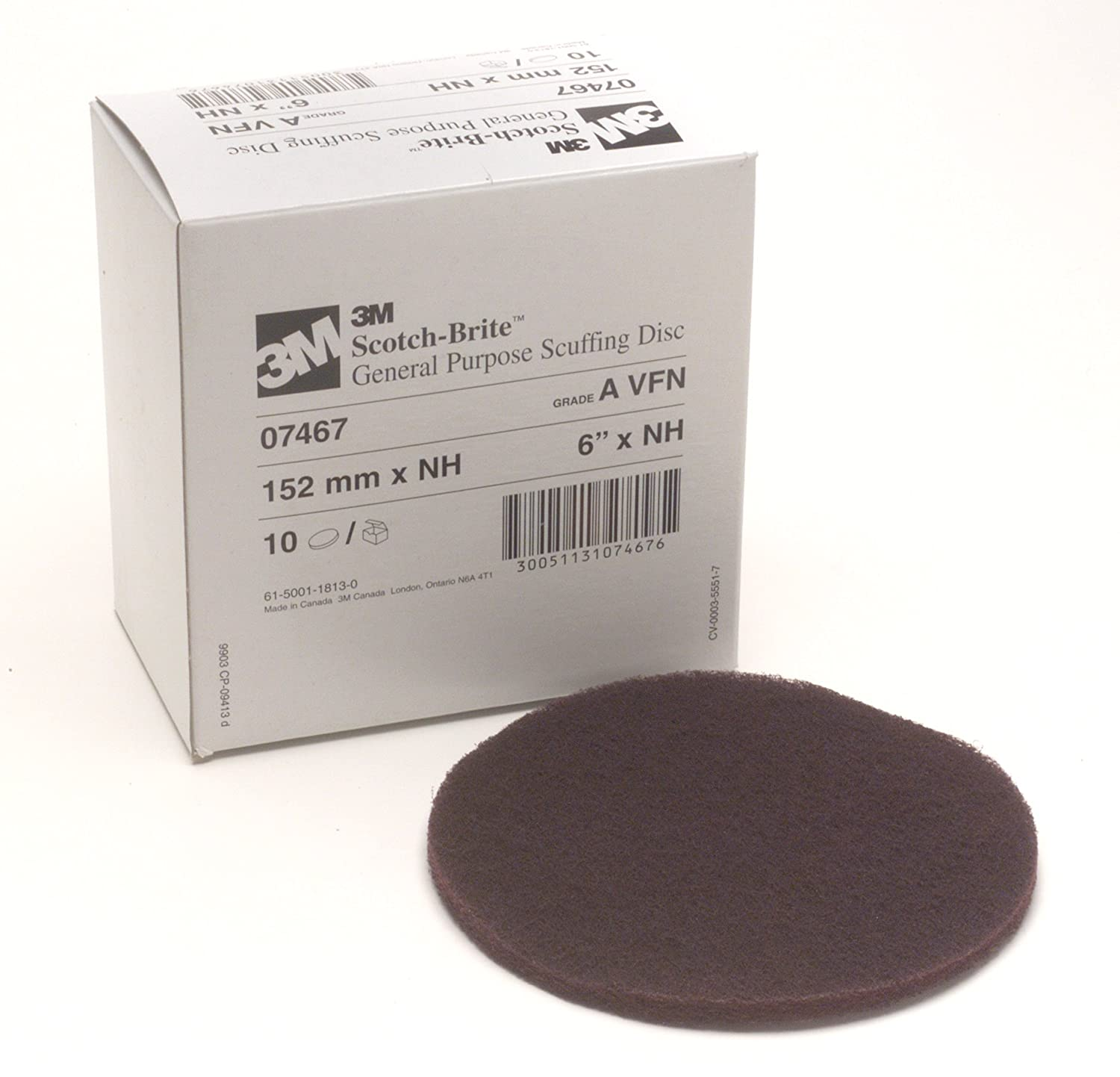 B00EW7I2OS Scotch-Brite Scuffing Disc 07467, 6 in x NH A VFN 81xRDfNIzWL