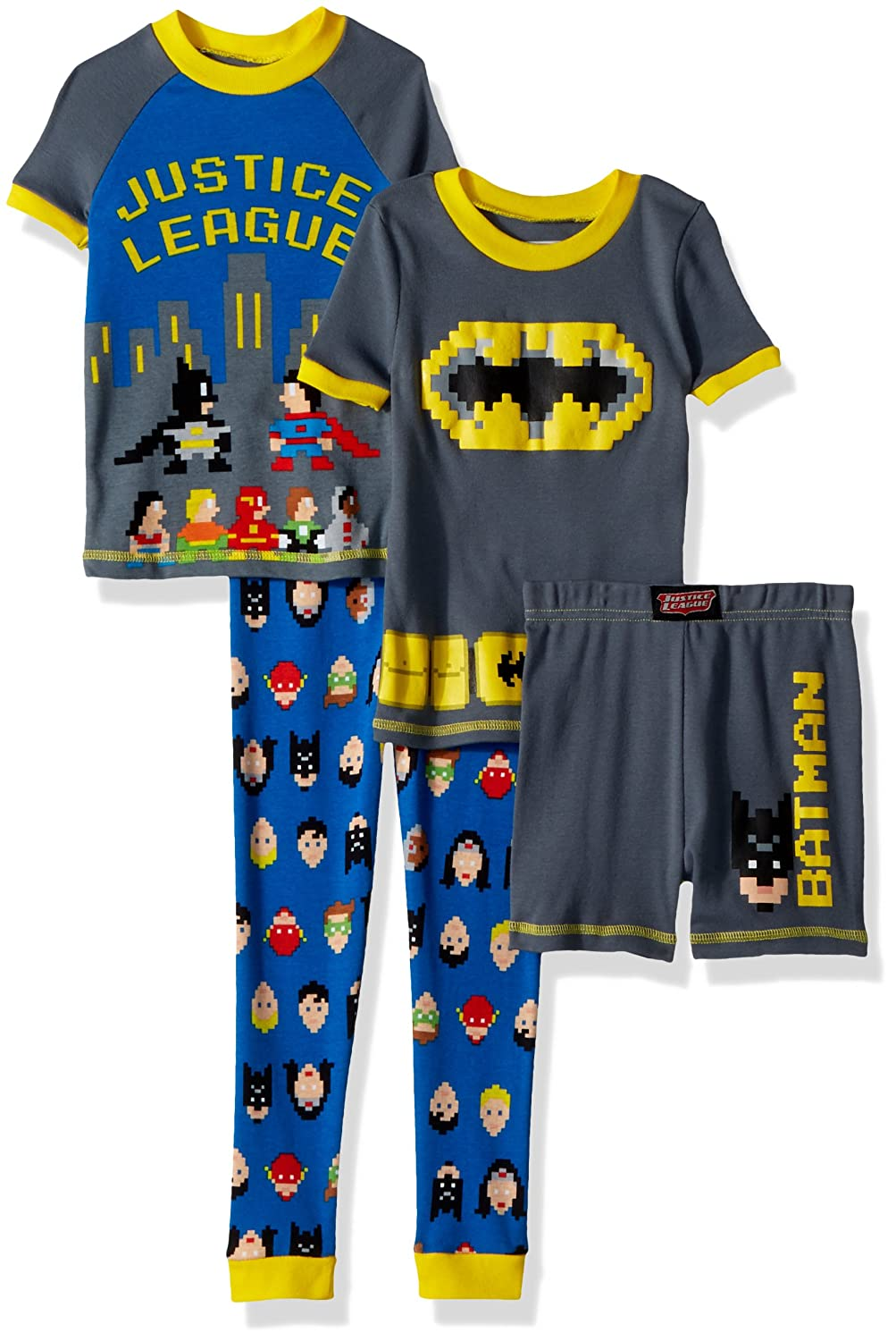 b60d5fea3 Amazon.com  Justice League Boys  Toddler Jl 4 Piece Cotton Pajama ...