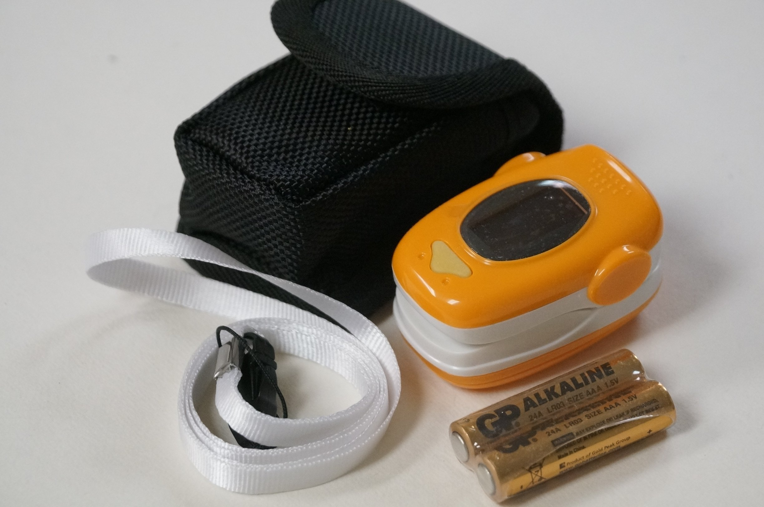 EMS70A Finger Pulse Oximeter with Carry Case and Neck/wrist Cord (ORANGE)