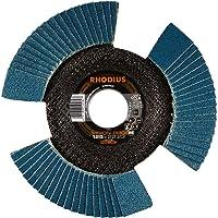 RHODIUS INOX lamellenslijpschijf VISION PRO Made in Germany Ø 125 mm K80 voor haakse slijper 5 stuks