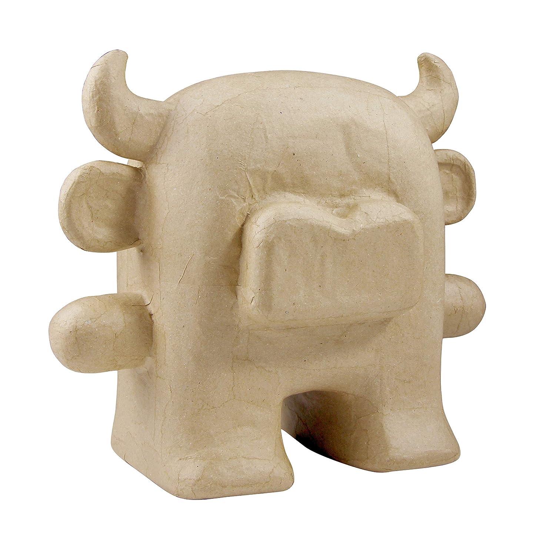 décopatch Mache Small Totem Bull, 7.5 x 16 x 13 cm, Brown Decopatch SA155O
