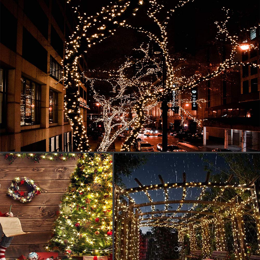 LightsEtc 66 Feet 200 Led 8 Modes Indoor Fariy String Lights with Battery Remote Timer Control Operated Waterproof Outdoor Copper Wire Twinkle Lights for Room Wedding Garden Party Wall Tree Decoration