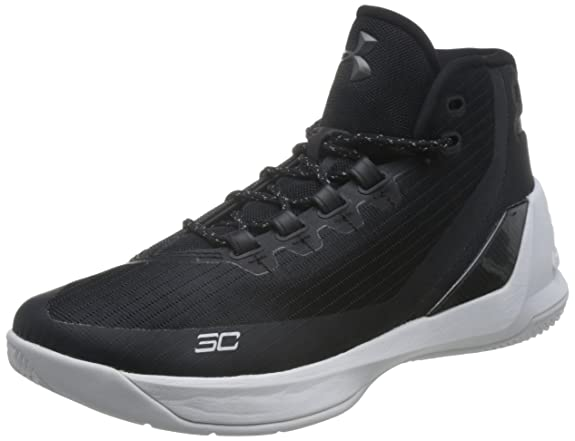 Men's Under Armour Curry 3 Basketball Shoe Black/White Size 8.5 M US