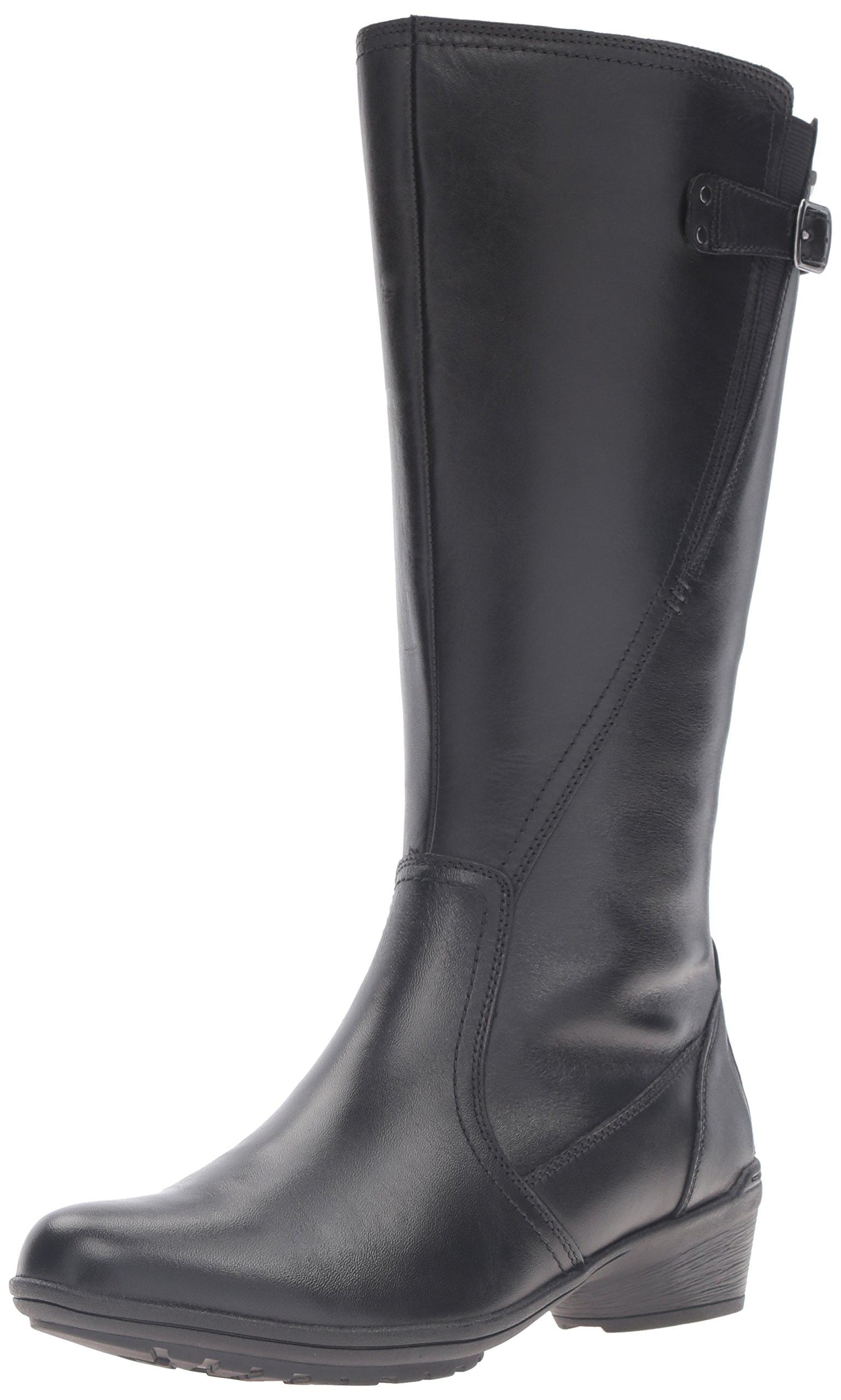 Rockport Cobb Hill Women's Cobb Hill Rayna Wide Calf Rain Boot, Black, 9 W US