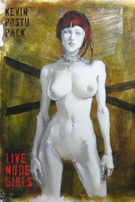 Nude woman on motercycle