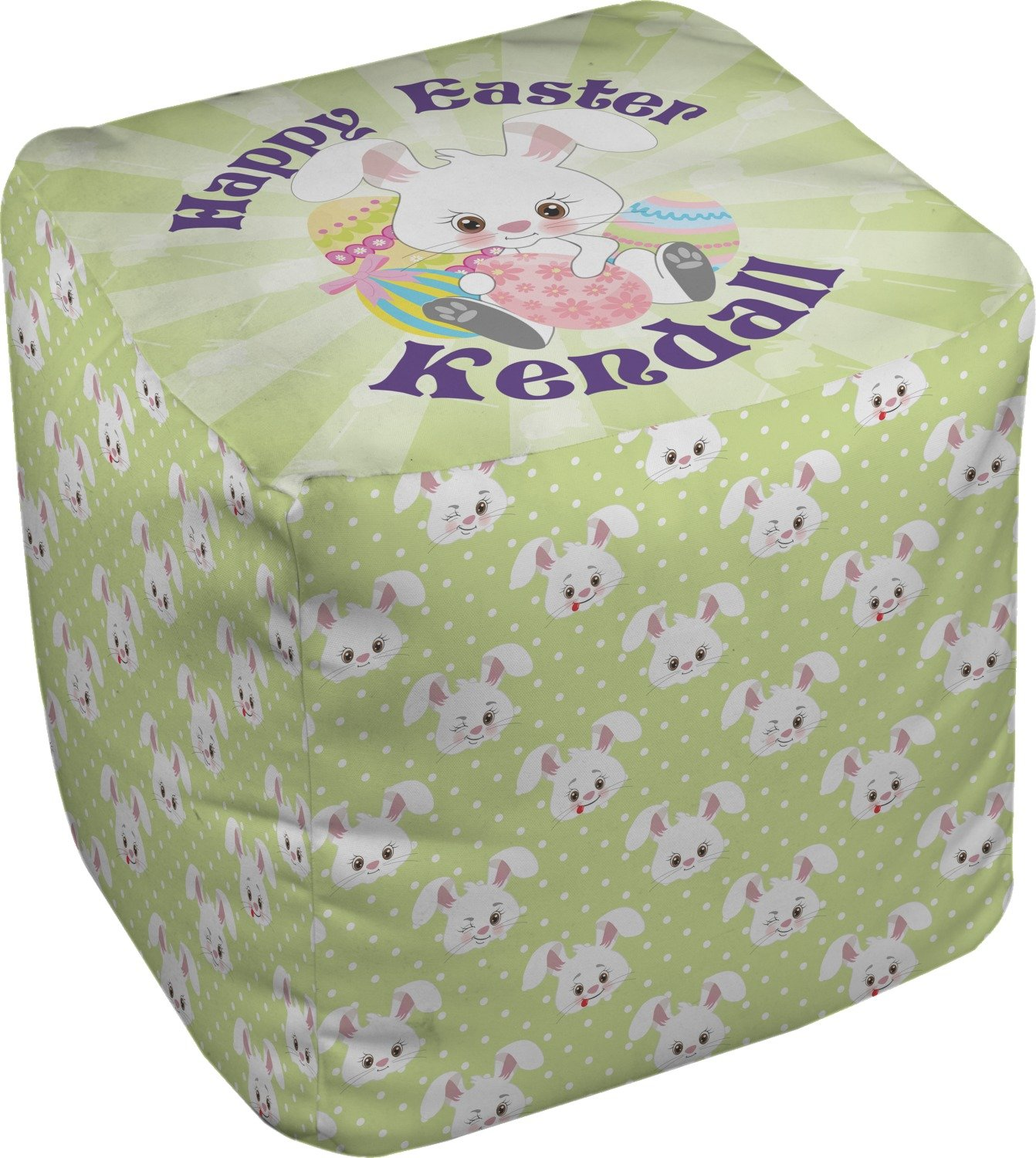 RNK Shops Easter Bunny Cube Pouf Ottoman - 13'' (Personalized)
