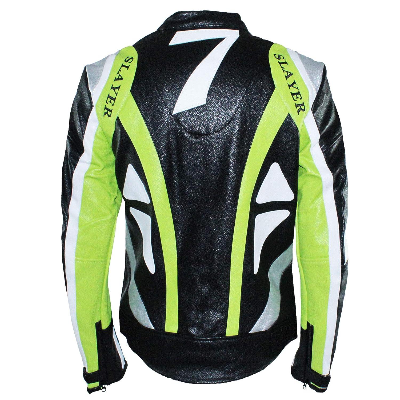 t/écnica Ciabal/ù cortavientos M Verde color negro chaqueta profesional para motociclista Slim Fit Custom ajustada piel sint/ética Cazadora de hombre para moto