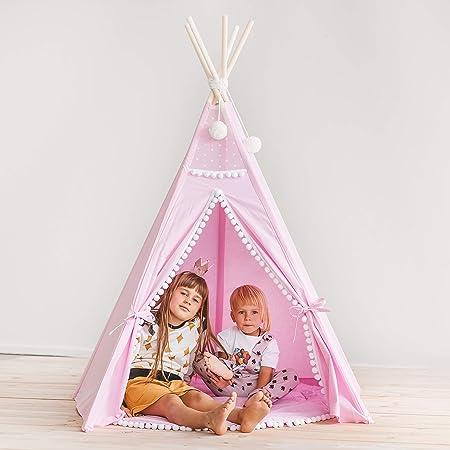 MINICAMP - Tienda de campaña para niñas/niñas/niñas/niños/Teepee/Tatuaje para niños/niños Teepee/guardería para Decorar Ideas/Tiendas de campaña para niños: Amazon.es: Hogar
