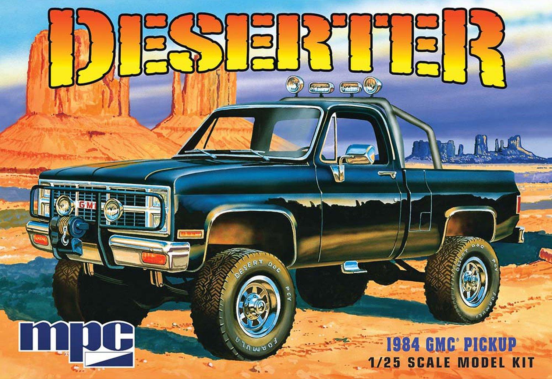 1984 GMC Pickup''Deserter'' - Molded in White - Plastic Model Kit, Paint and glue required,