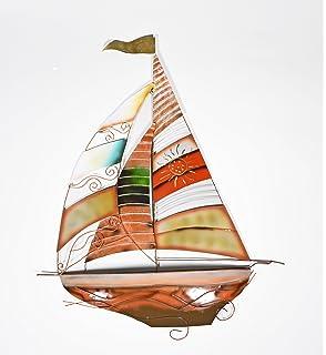 Preferred Amazon.com: Deco 79 Metal Sailing Boat Decor a Perfect Nautical  CM26