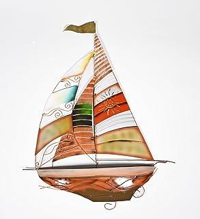 Nautical SailBoat Sail Boat Cruiser Yacht catalina Hunter Dinghy Ship Fishing metal ocean Wall Art  sc 1 st  Amazon.com & Amazon.com: Deco 79 Metal Sailing Boat Decor a Perfect Nautical ...
