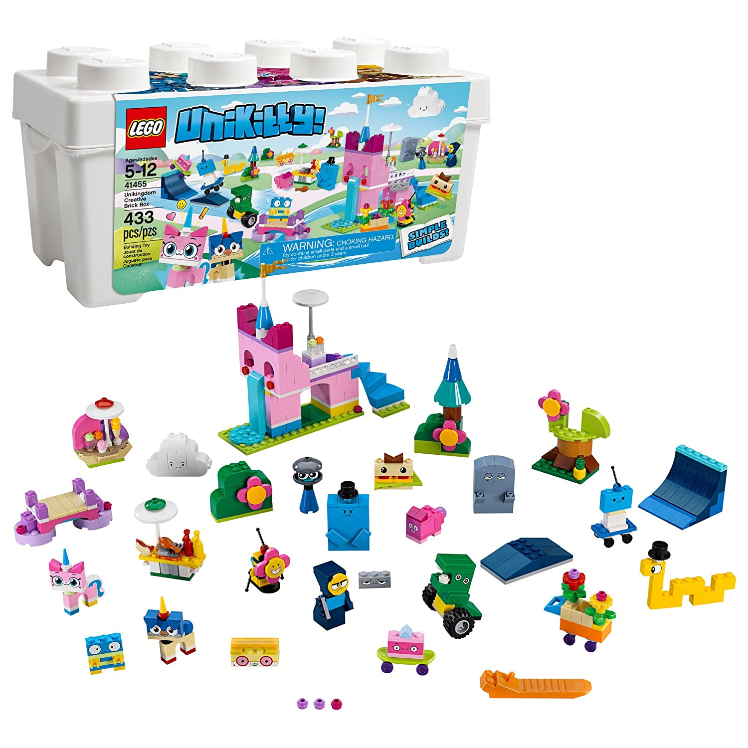 LEGO Unikitty Unikingdom Creative Brick Box Building Kit (433 Piece), Multicolor   B07C8T3PHK