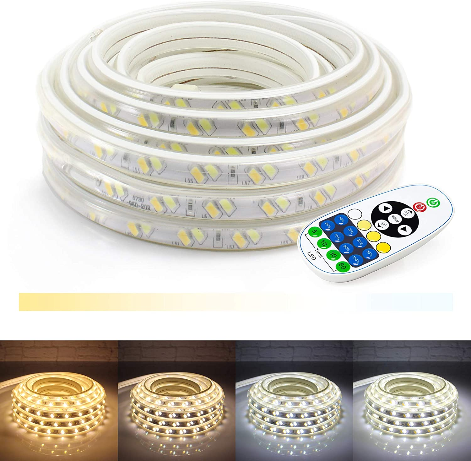 WYZworks LED Strip Free shipping New Lights 25 2-in-1 White Popular product ft Cool Warm