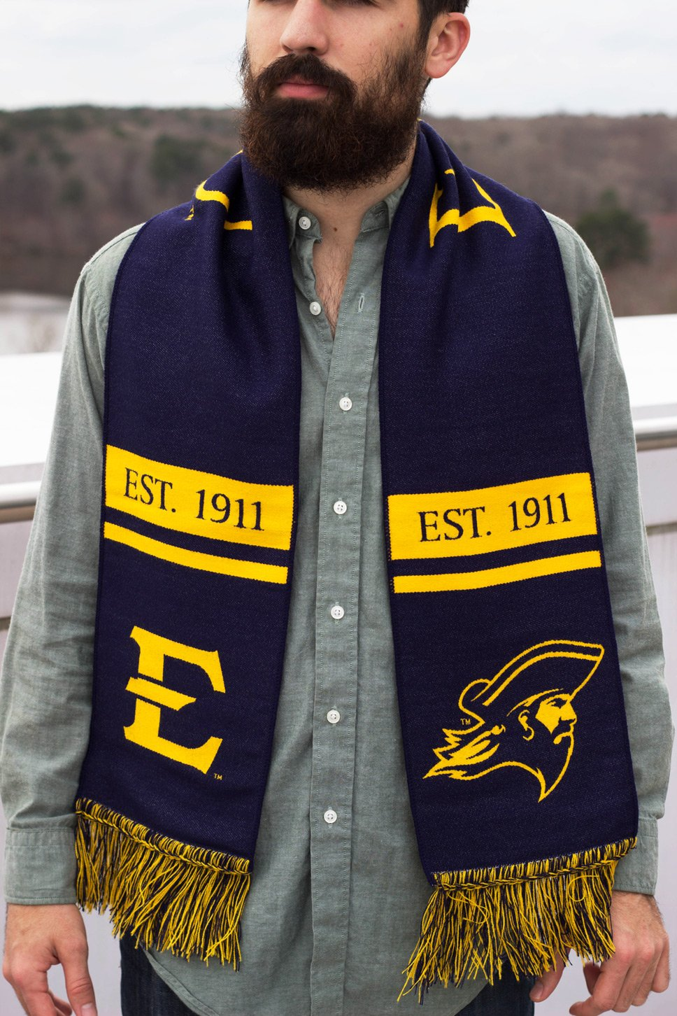 East Tennessee State Buccaneers Classic Woven ETSU Scarf