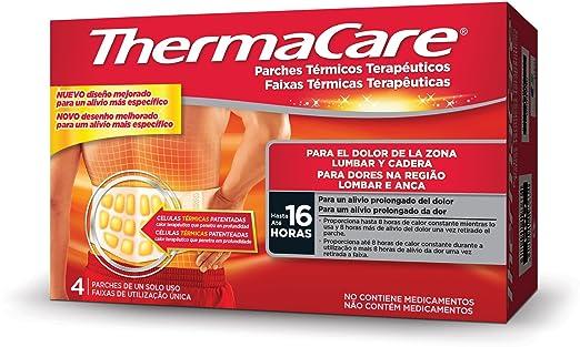 Thermacare, Parche Térmico Terapéutico para el dolor Lumbar y Cadera - 4 Unidades: Amazon.es: Salud y cuidado personal