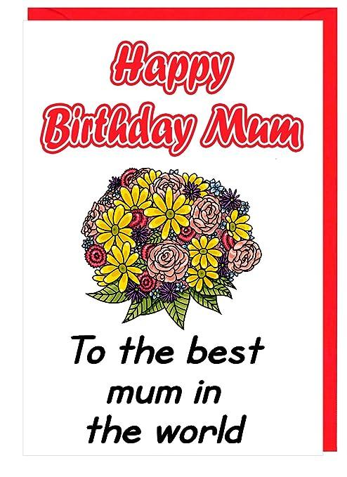 Tarjeta de cumpleaños para la mejor madre del mundo: Amazon ...