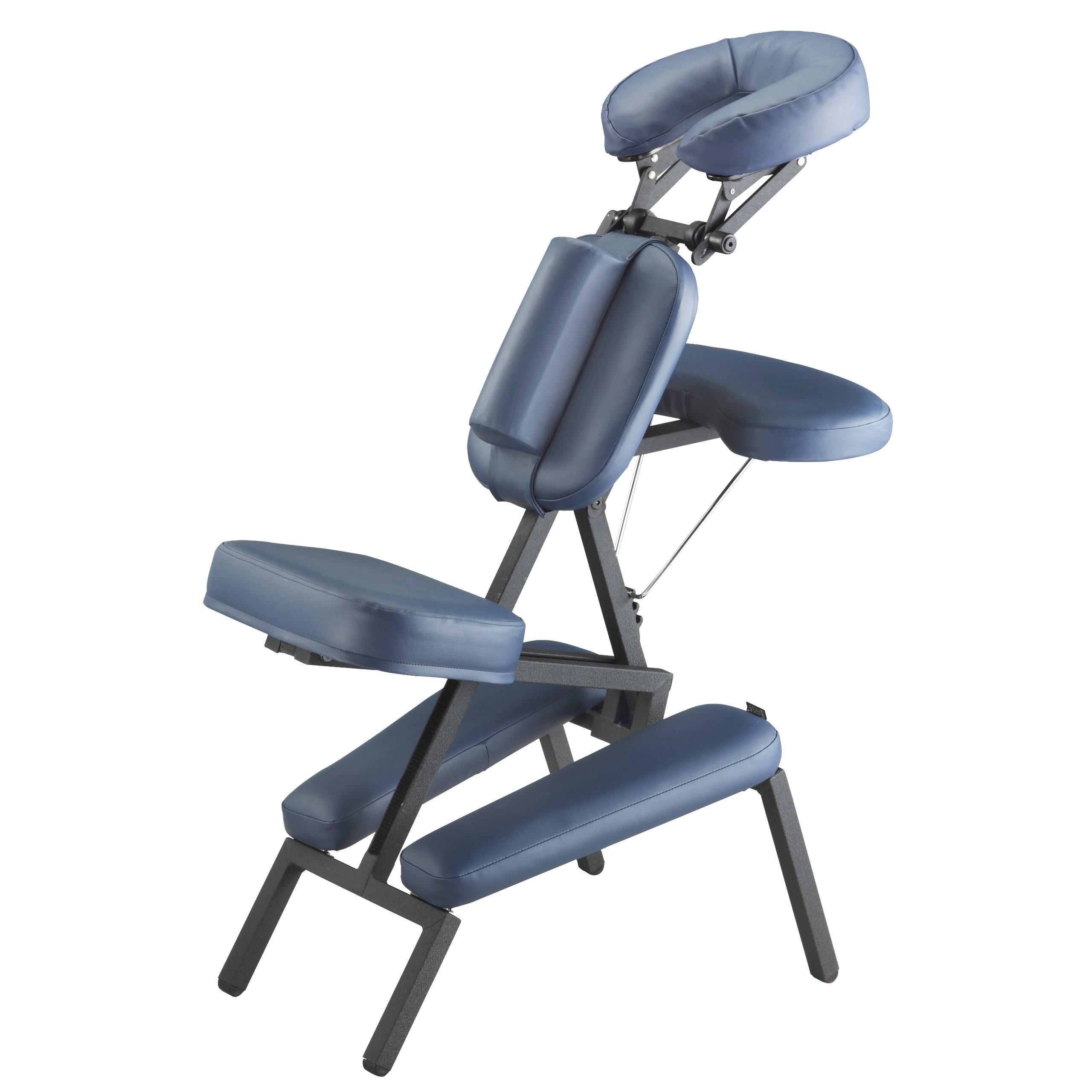 Master Massage Professional Portable Massage Chair, Blue by Master Massage