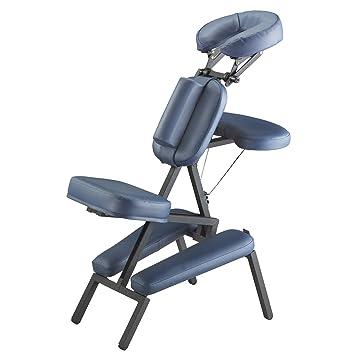 master massage professional portable massage chair blue