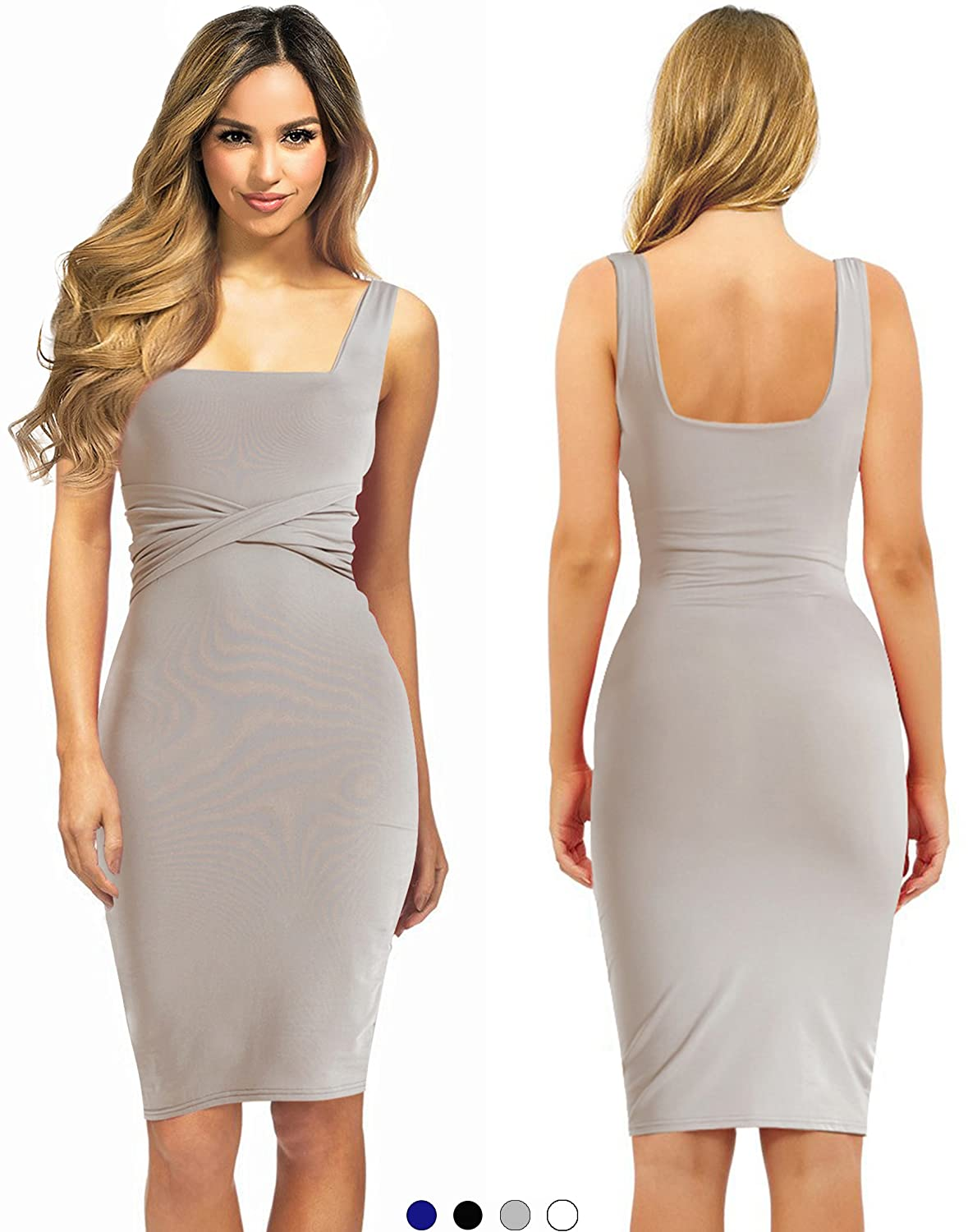 8e46e4cfa •ELEGANT DINNER DRESS FOR THE FASHIONABLE LADY  Look dashing and  fashionable in this midi length cocktail dress. It has a wide strap