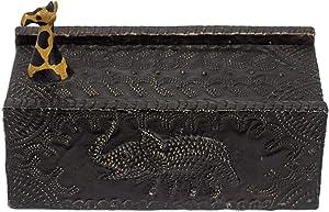 NOVICA Hand Carved Safari Zoo Animal Wood Jewelry Box, Proud Giraffe'