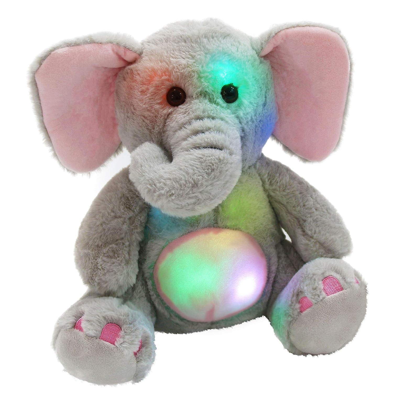 Amazon Com Wewill Glow Elephant Stuffed Animals Cozy Soft Plush