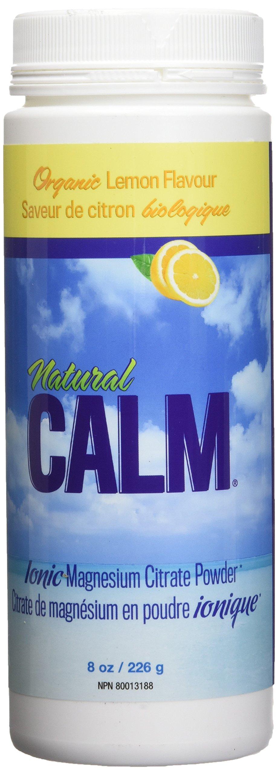 Natural Vitality Calm Supplement - 8 Oz. Sweet Lemon Drink, Anti-Stress Drink, Vegan Formula. Magnesium Drink