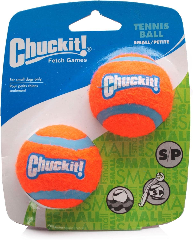 Chuckit perro pelota de tenis pequeñas 4,8 cm, 2 por paquete ...