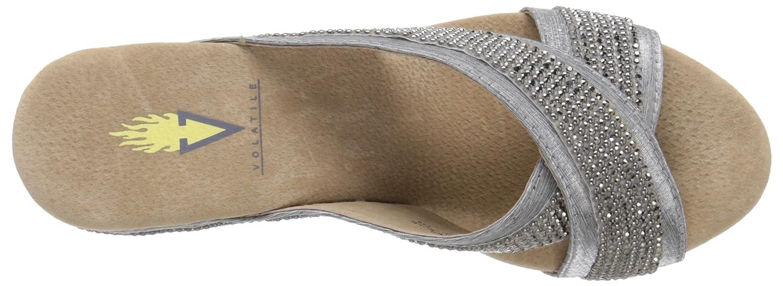 Volatile Women's Blissy Wedge Sandal B012D5VWMO 9 B(M) US Silver