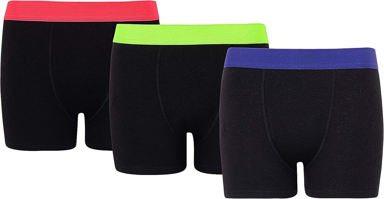 in Cotone Organico Boxer da Bambino Biancheria Intima da 5 a 13 Anni Confezione da 6 e 12 Pezzi