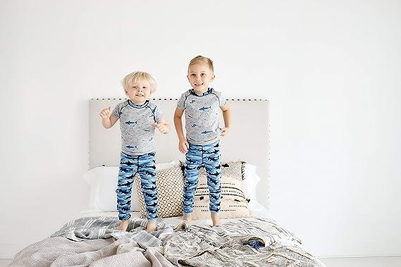 Mud Pie Baby Boys Camo Shark Short Sleeve 2 Pc Pajamas Set