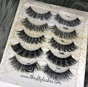 328c66e8ce7 Wispy Lash Bundle | False Eyelashes | 5 Faux Mink Styles | Reusable | 100%