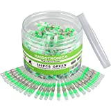 haisstronica 200PCS 18-16 Green Solder Seal Wire Connectors,Waterproof Wire Connectors, Heat Shrink Butt Connectors for Water