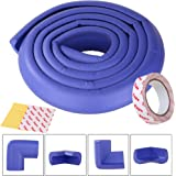SGM baby safety strip, SGM® 2 meter long safety stri with 3M adhesive tape and 4 corner safety strips (Blue)