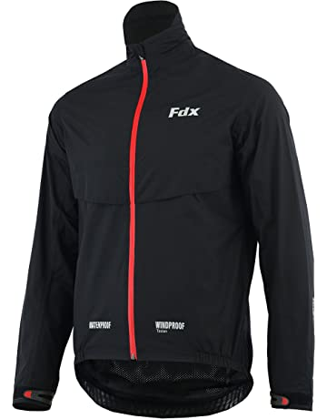FDX Mens Waterproof Cycling Jacket Breathable Lightweight Running Coat 575d2f218