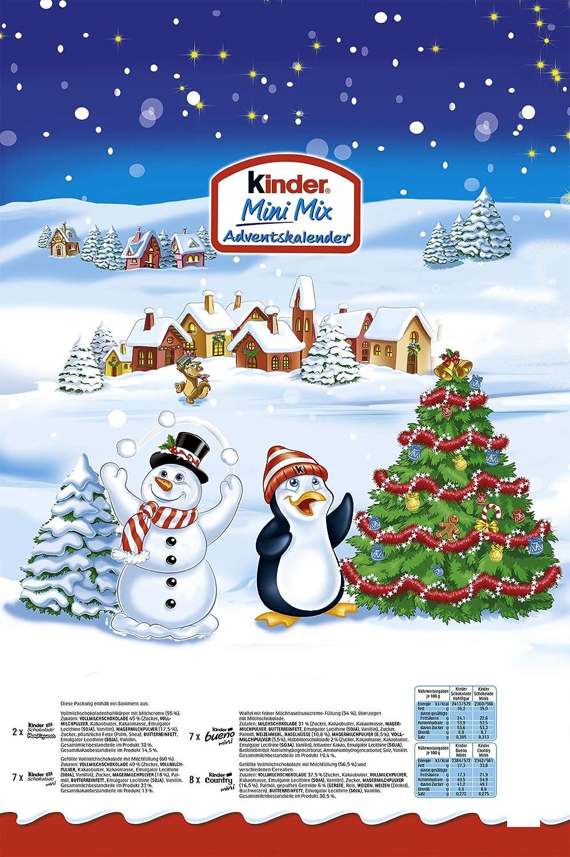 Calendario Avvento Kinder Prezzo.Ferrero Kinder Mini Mix Calendario Dell Avvento 152g 1pezzo