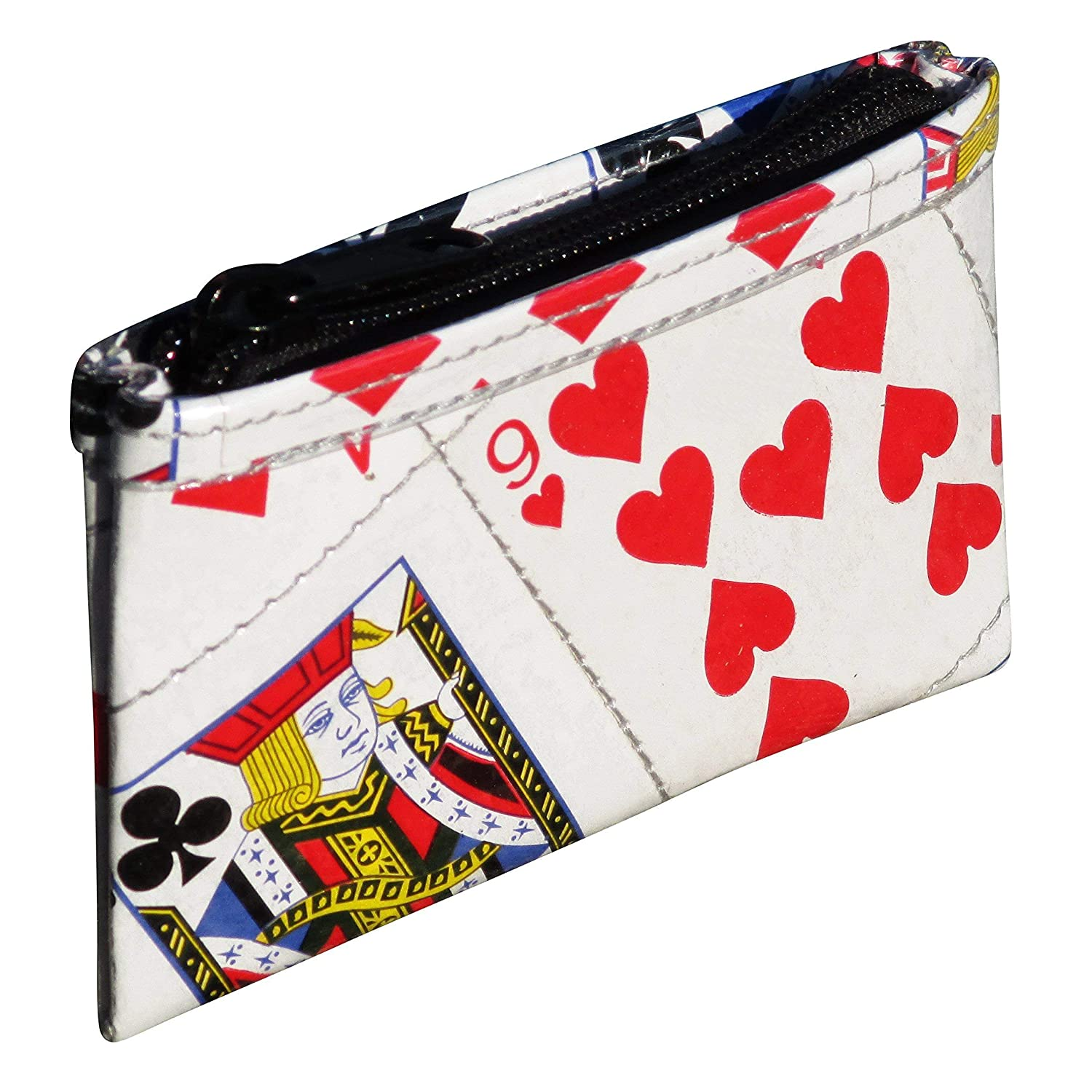Amazon.com: Zipper Coin Purse Made From Real Playing Cards ...