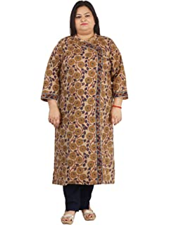 0e5f797e93f Beige Cotton Damyantii Plus size long kurtis for women stylish in sizes  2xl