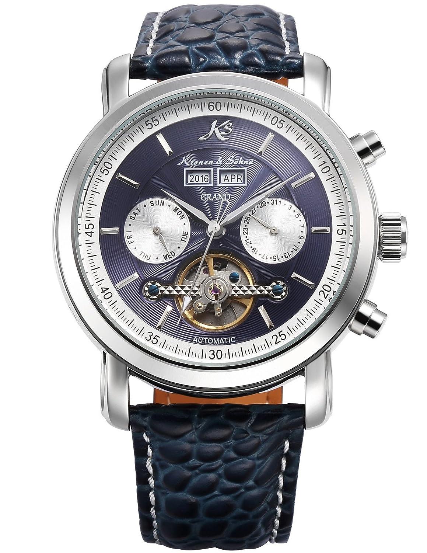 KS Herren Mechanische Armbanduhr mit hÖlzerner Geschenbox KS370