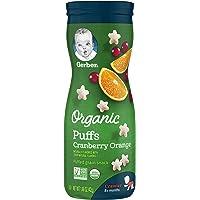 Gerber Graduates Organic Puffs, Cranberry Orange, 1.48 Oz, 6 Count,