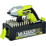 McKerson 500015 - Atornillador, batería de litio 1,3 Ah (con estuche 54 puntas, 3,6 W, 3,6 V)
