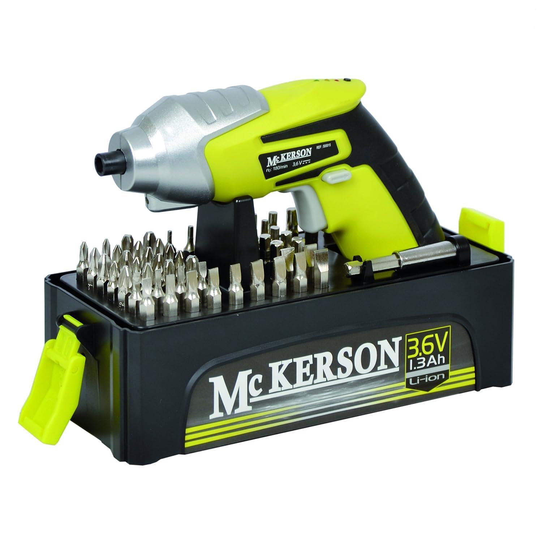 McKerson 500015 Atornillador, batería de litio 1,3 Ah (con estuche ...