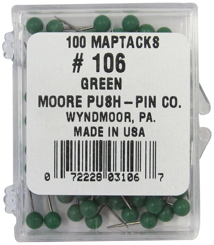 Moore Push-Pin Map Tacks, Dark Blue *104