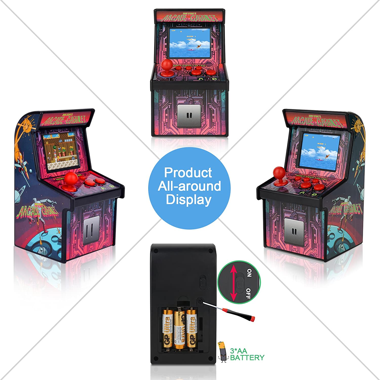 Amazon MINI ARCADE GAMES Retro Tiny Video Game Arcade Cabinet
