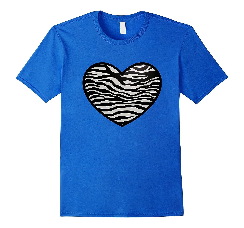 I Love Zebras Shirt, Zebra Print Heart, Zebra Stripes-AZP