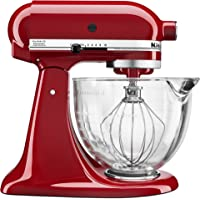 KitchenAid 5-Quart Tilt-Head Stand Mixer with Glass Bowl & Flex Edge Beater (Multi Colors)