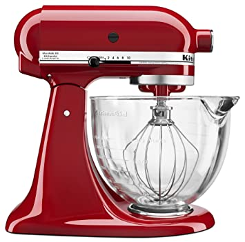 Amazon.com: KitchenAid KSM105GBCER 5-Qt. Tilt-Head Stand Mixer ...