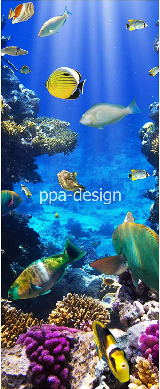 Sticker Porte Poissons Vue sous Marine SAPP7071 63x204cm