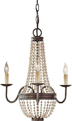 Feiss F2755/3PBR Charlotte Crystal Bead Mini Chandelier Lighting